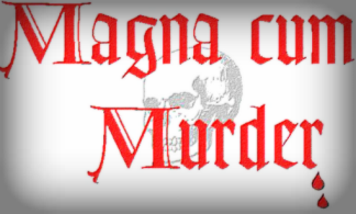 Logo for Magna Cum Murder Mystery Convention