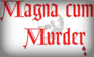 Logo for Magna Cum Murder Mystery Convention