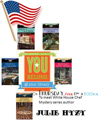 Julie Hyzy Library visit link