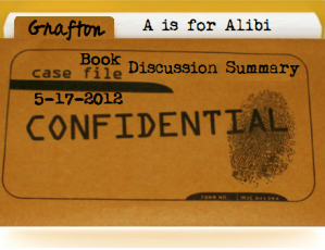 """Case File: Grafton Book Summary for """"A is for Alibi"""""""