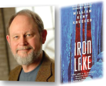 "William Kent Krueger pictured with ""Iron Lake"""