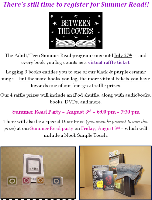 Information about the 2012 Adult Summer Read Prizes