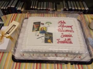 Close-up on Jamie's cake