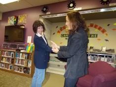 Luisa helping Jamie to demonstrate aikido self defense