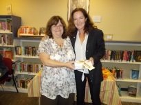 Patti from Lisle Library with Jamie Freveletti