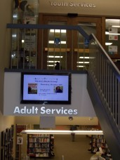 Jamie's sign at Lisle Library