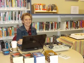 Our Brain Snacks friend Sue brought copies of Jamie's books to purchase & have Jamie sign