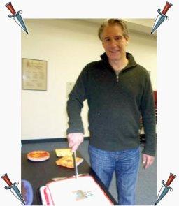 Bryan Gruley Staking His Cake