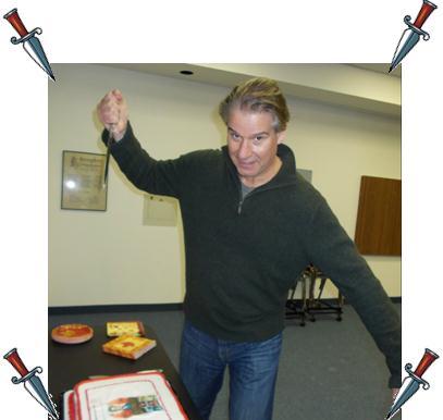 Bryan Stakes His Cake!
