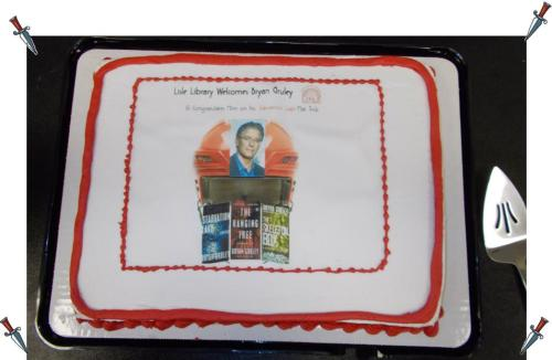 Special Cake for Bryan Gruley's Visit