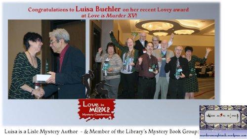 """Love is Murder"" Lovey Award Winners 2014 including Lisle author, Luisa Buehler"