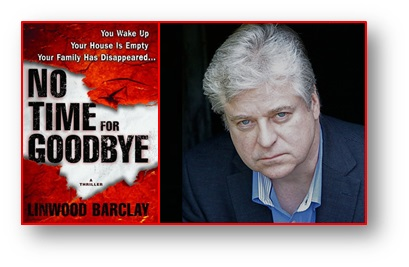 Author Barclay with No Time for Goodbye cover
