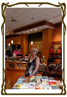 MAF member Bev explores new books at Barbara's Bookstore in Burr Ridge