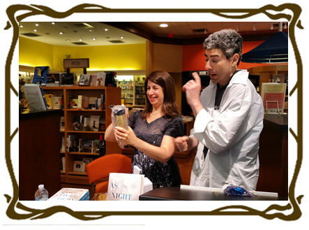Jenny Opens her 50th Anniversary Lisle Library Thermos as Josh Watches