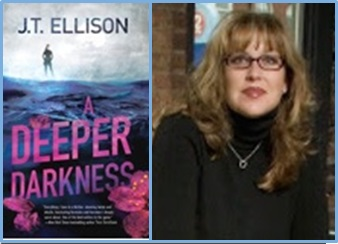 Author with A Deepter Darkness cover