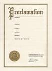 Picture of a Proclamation