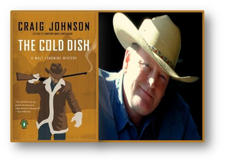 Craig Johnson with The Cold Dish cover