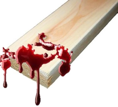 Blood-Spattered 2X4