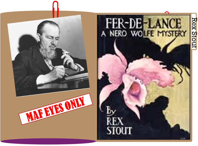 Rex Stout folder graphic