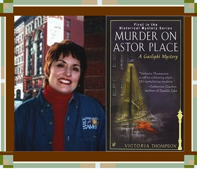 Victoria Thompson & cover for Murder on Astor Place