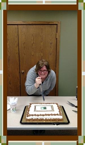 Lori Rader-Day Stakes Her Cake!