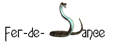 Fer-de-Lance Title with Snake