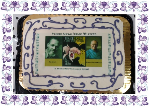 Rex Stout and Bob Goldsborough Cake