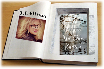 J.T. Ellison with No One Knows in Book Safe graphic