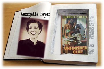 Georgette Heye & Unfinished Clue in Book Safe graphic