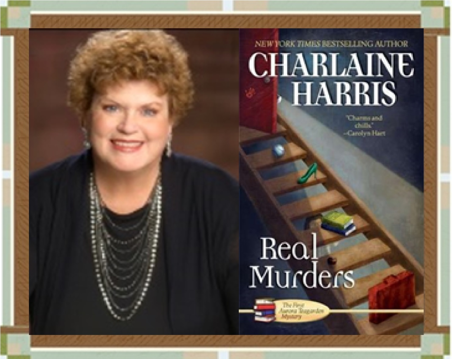 Charlaine Harris and Real Murders cover graphic