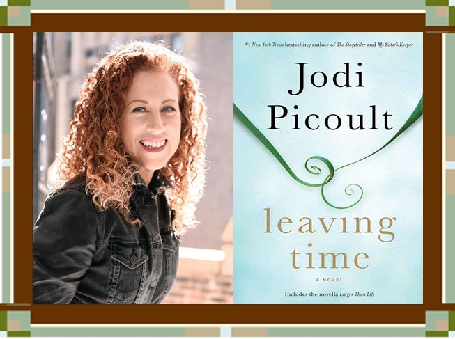 Jodi Picoult & Leaving Time graphic