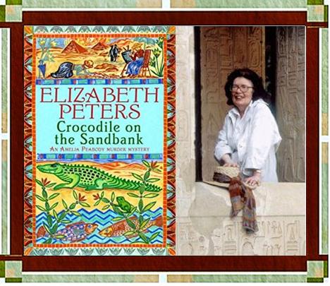 Elizabeth Peters & Crocodile on the Sandbank Cover
