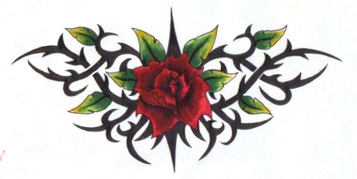 rose and thorns graphic