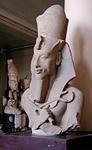 Statue of Akhenaten_Khuenaten in the early Amarna style.
