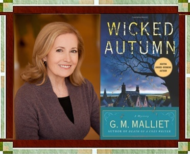 G. M. Malliet with Wicked Autumn book cover