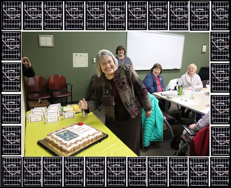 Vicki Staking the Cake!