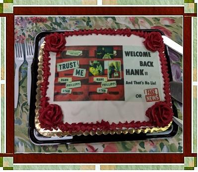 Trust Me Cake for Hank Phillippi Ryan