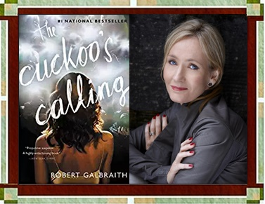 The Cuckoo's Calling with Author graphic