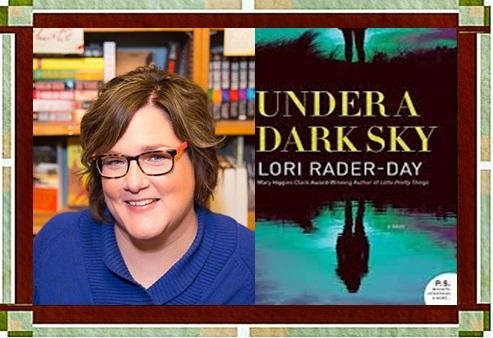 """Lori Rader-Day with """"Under a Dark Sky"""" cover"""