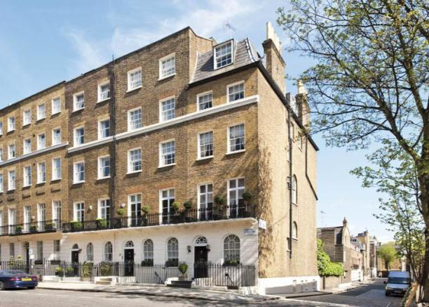 Lady Frances' house in Belgravia