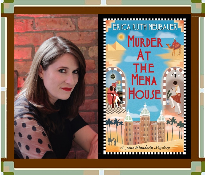 Erica Ruth Neubauer with Book cover